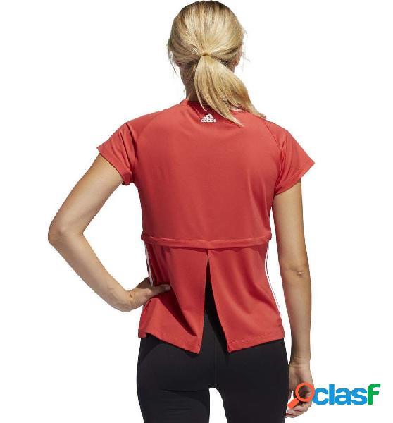 Camiseta fitness mujer adidas 3s cap slv tee manga corta m rojo