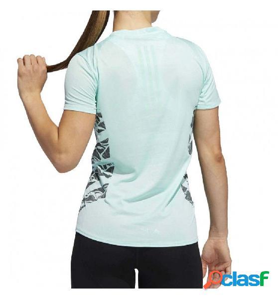 Camiseta m/c running adidas supernova cru azul xs