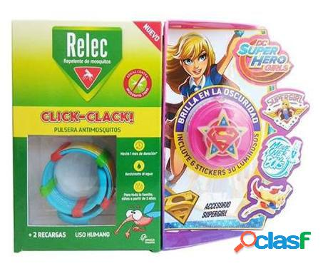 Relec pulsera antimosquitos + stick super girl