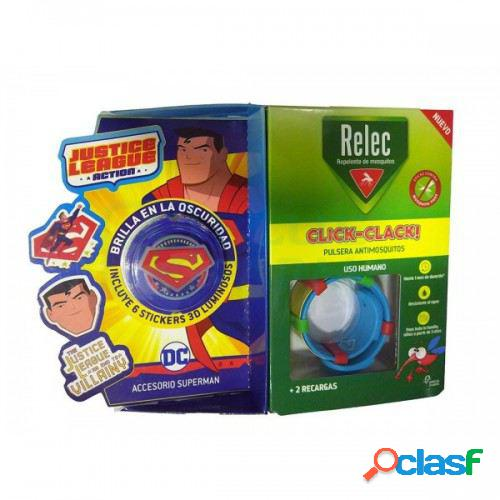 Relec pulsera antimosquitos + stick superman