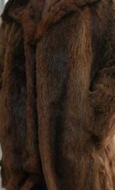 Abrigo de piel de nutria