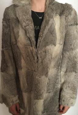 Abrigo piel de conejo talla 42