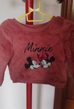 Minnie mouse jersey de pelo