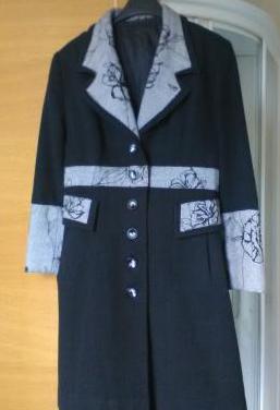 Abrigo negro y gris t.m