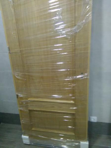 3 puertas de madera de roble macizas, 1 vidriera