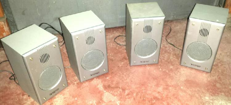 4 altavoces madera home cinema sonido envolvente