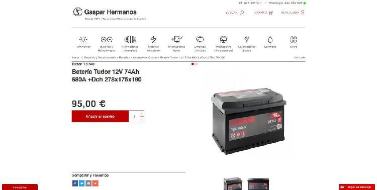 Bateria coche nueva por mitad precio
