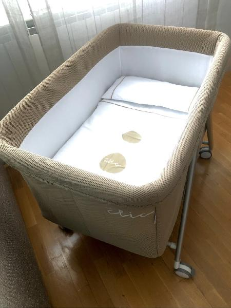 Minicuna baby clic con ropa de cama