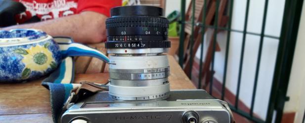 Minolta hi-matic 7,cámara de fotos vintage
