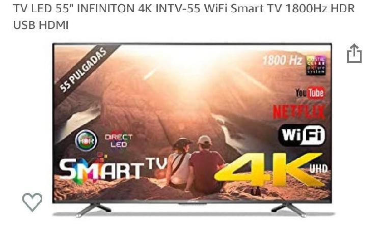 """Tv 55"""" smart tv wifi (nueva) garantía y factura"""