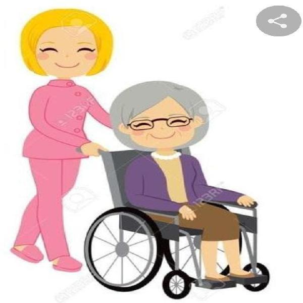 Chica responsable para acompaar o pasear ancianos