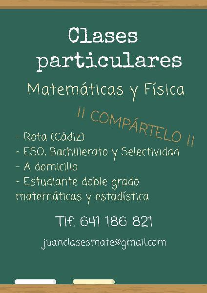 clases Particulares Matemáticas y Física en Rota