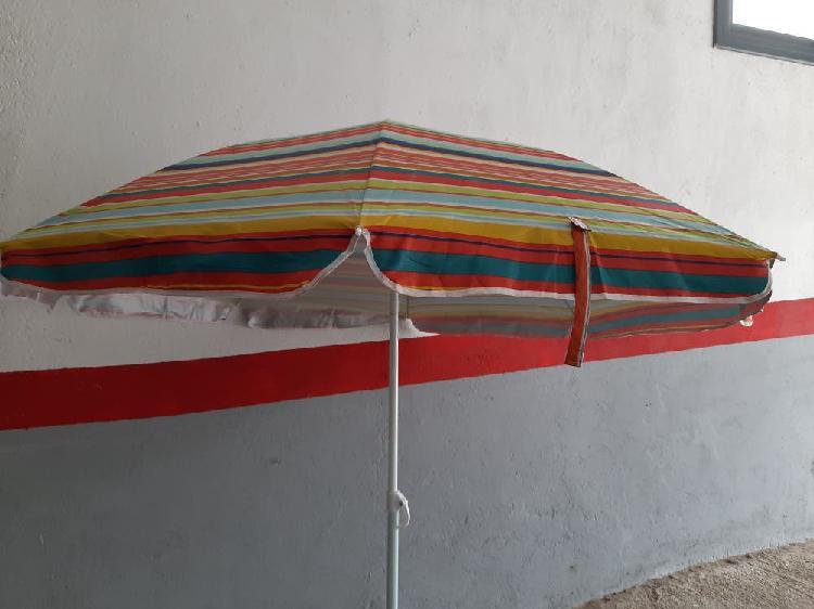 Parasol playa 1.60 mts. inclinable, proteccion