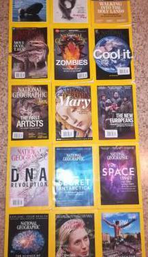 15 revistas de la national geographic en ingles