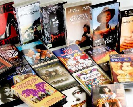20 películas vhs originales