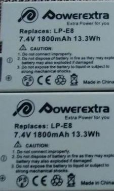 Baterias compatibles canon lp-e8