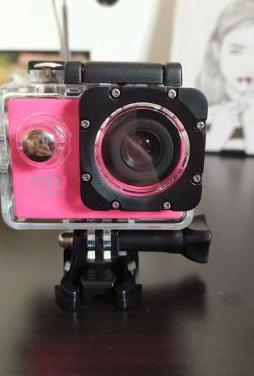 Camara deportiva de agua nueva color rosa