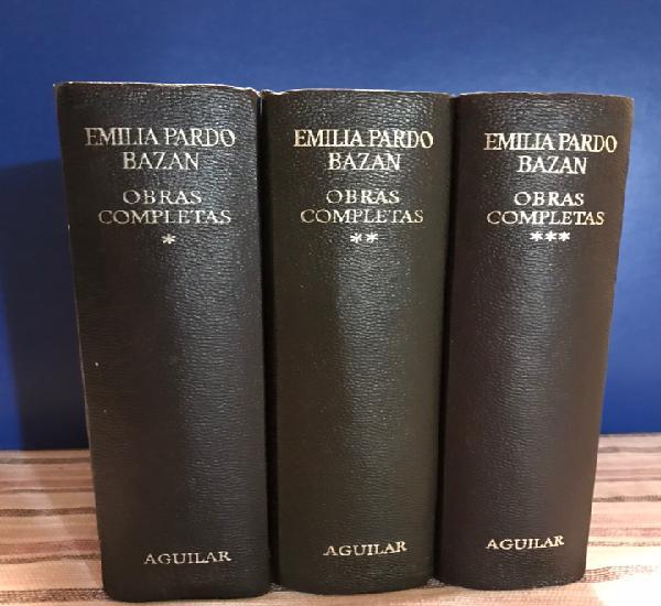 Emília pardo bazán. obras completas (3 tomos) editorial