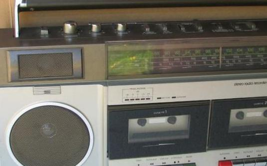 Radio cassette doble pletina años 80