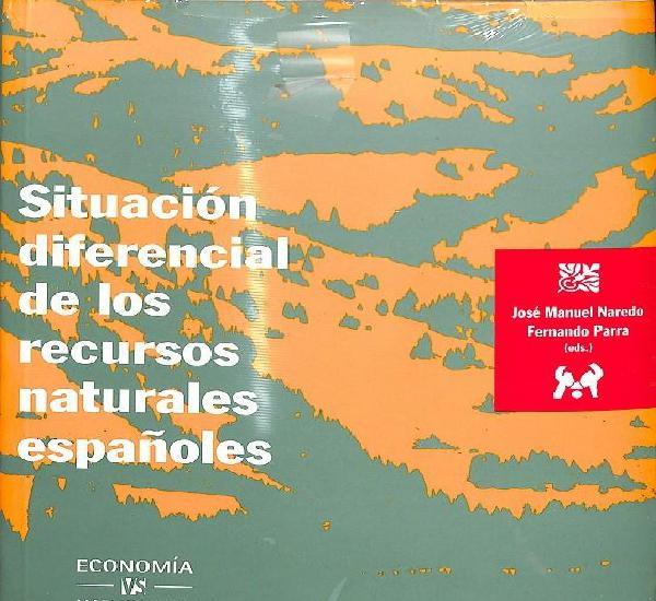 Situación diferencial de los recursos naturales españoles