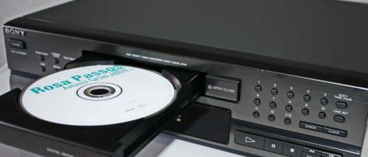 Sony compact disc playe