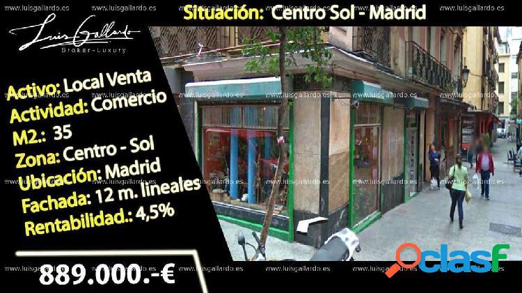 Venta local comercial - sol, centro, madrid [159147/local rentabilidad]