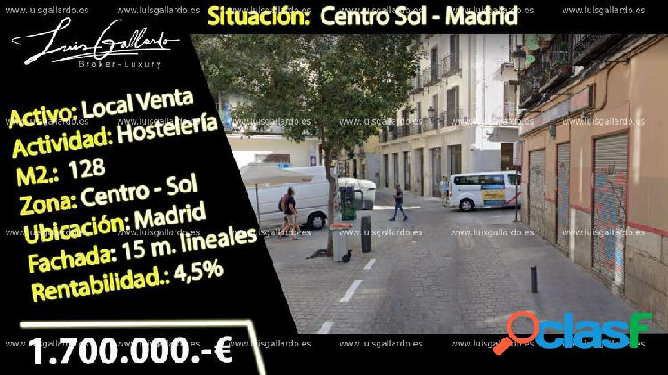 Venta local comercial - sol, centro, madrid [271008/local rentabilidad]