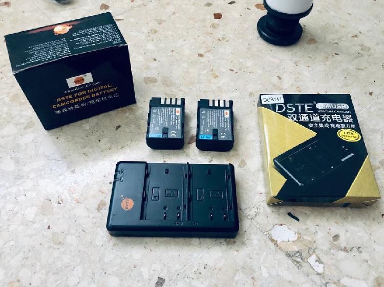 Cargador + 2 baterías compatibles con gh5/gh4