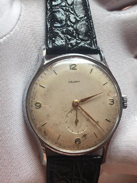 Reloj cauny caja jumbo y acero