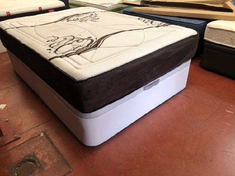 Cama 135x190 canapé tapizado polipiel+colchon