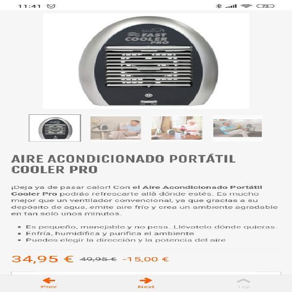Ventilador, aire acondicionado portatil