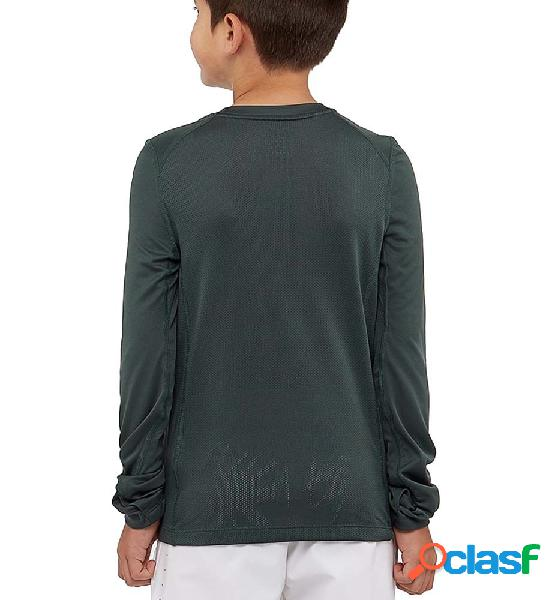 Camiseta running ml niño nike dry running top boys verde xl