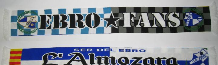 Bufanda lana fútbol EBRO FANS 2 caras club deportivo Ebro