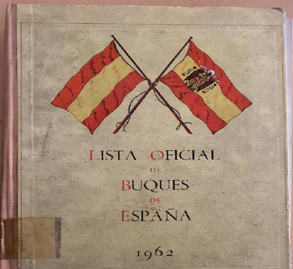 Lista oficial de buques de españa 1962. subsecretaria de la
