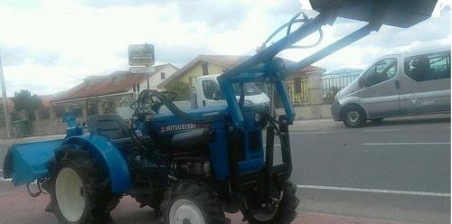 Mini tractor mitsubishi d 1301 con pala