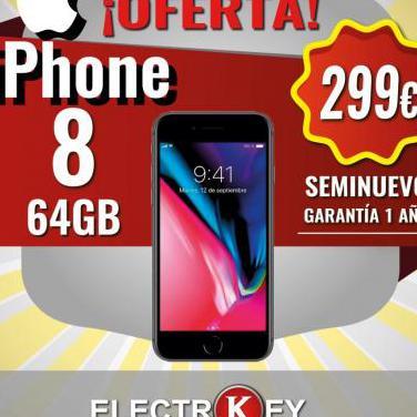 Seminuevo iphone 8 64gb por 299