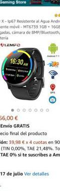 Smartwatch lemfo lem x