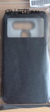 Funda negra y transparente lg q60 o lg k50