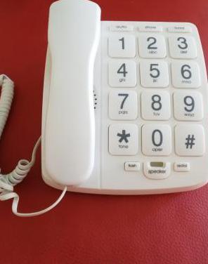 Teléfono fijo casa blanco