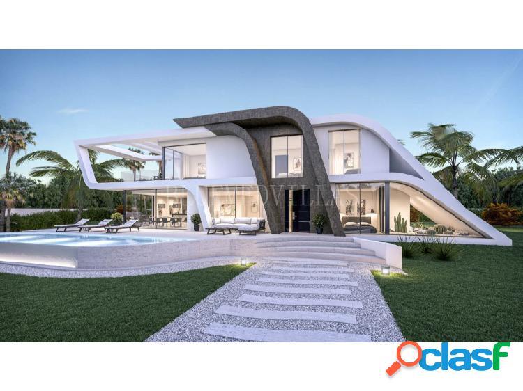 Proyecto de villa de estilo moderno con vistas al mar en venta en jávea