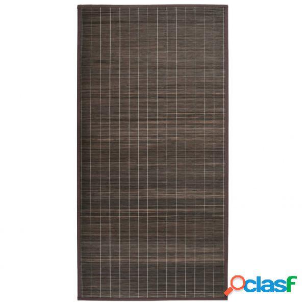 Alfombra de bambú 195x300cmarrón oscuro vida xl