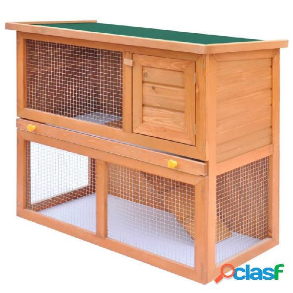 Casa de animales pequeños jaula conejera 1 puerta madera vida xl