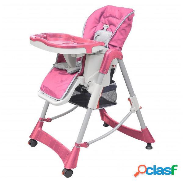 Trona de bebé deluxe de altura ajustable rosa vida xl