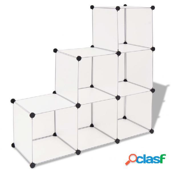 Estantería de cubos con 6 compartimentos blanco vida xl