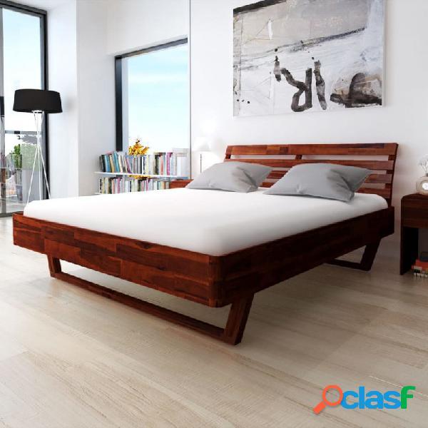 Estructura de cama demaderamaciza de acacia 180x200cm vida xl