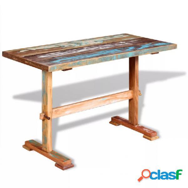 Mesa de comedor pedestaladeraaciza de acacia 120x58x78cm vida xl