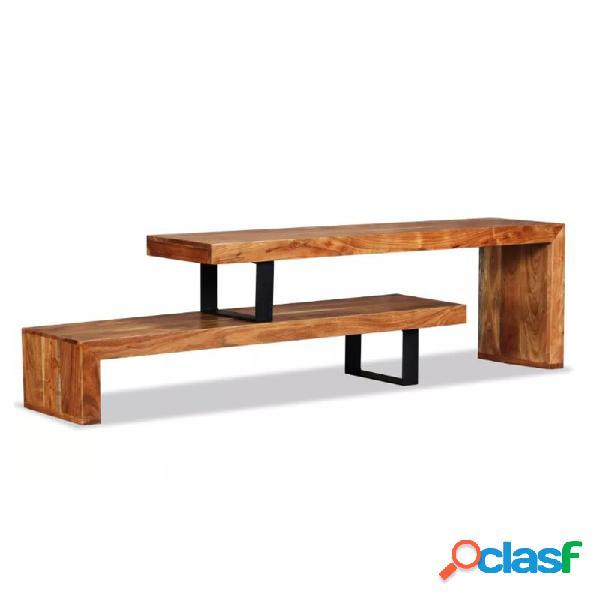 Mueble de televisón 2 partes ajustable vidaxl