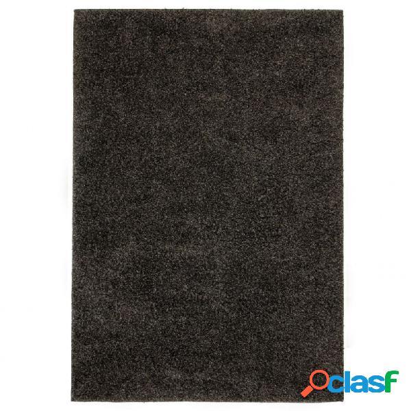 Alfombra shaggy peluda 140x200 gris antracita vida xl