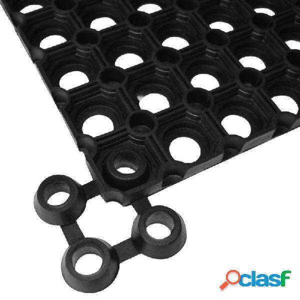 Conectores de alfombras10 unids goma negros vida xl