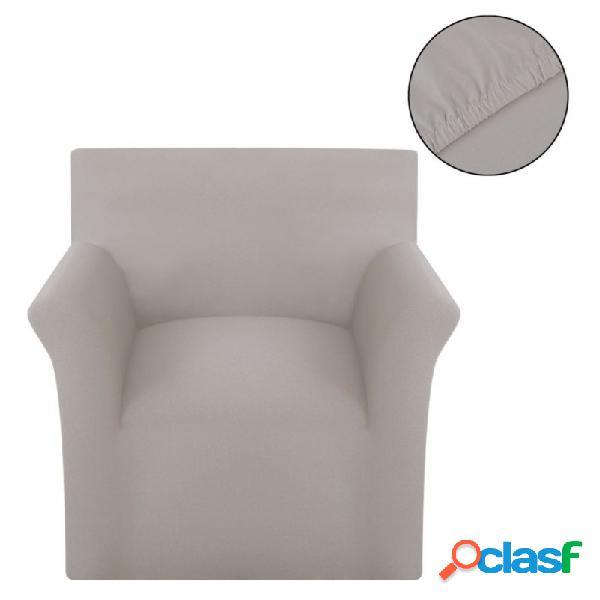 Funda elástica para sofá de algodón jersey color beige vida xl